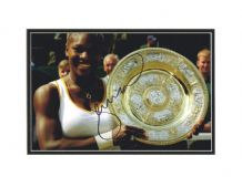 Serena Williams Autograph Photo  - Wimbledon